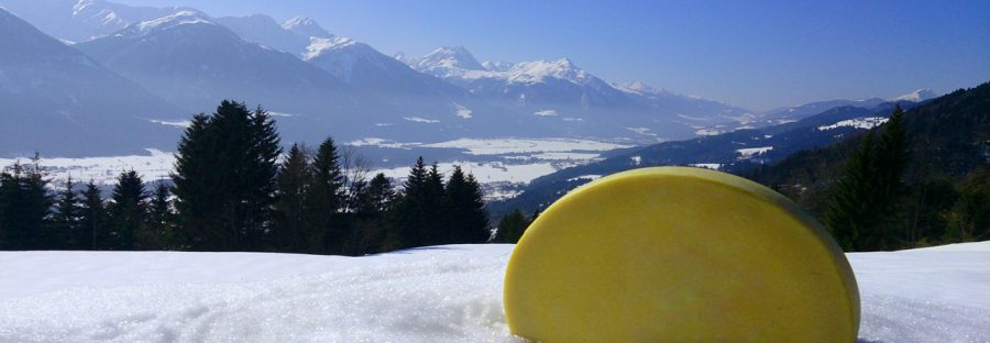 Gailtaler Almkäse im Schnee