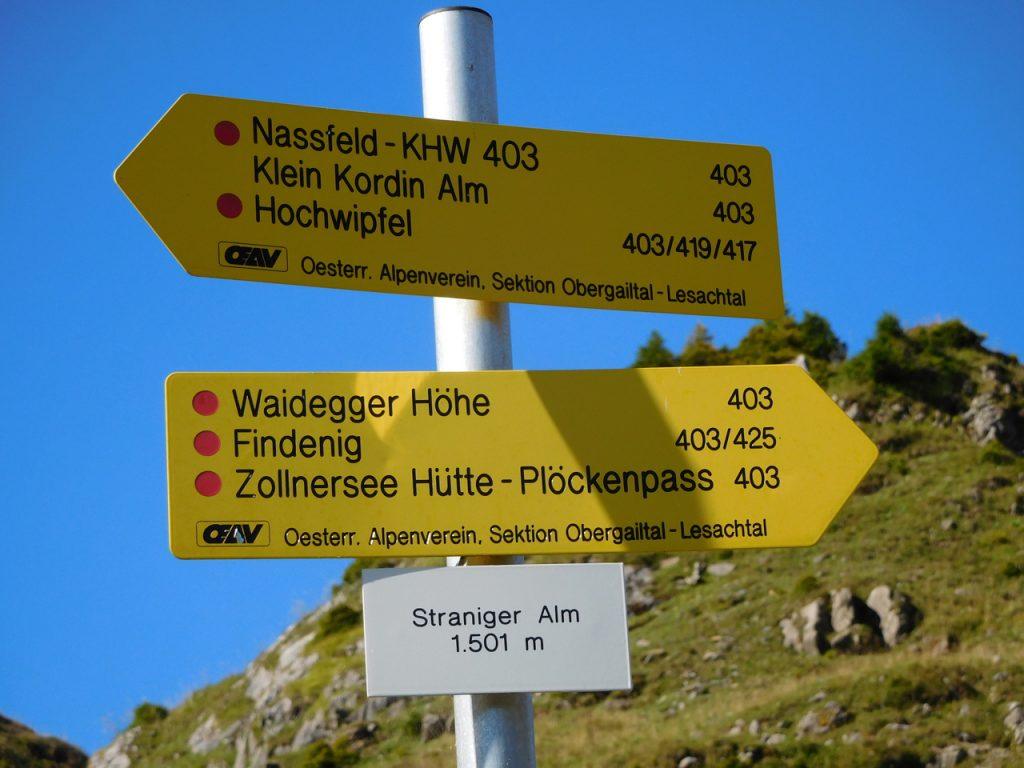 Wandern und Biken von der Straniger Alm im Gailtal